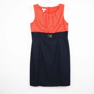 ALYX LIMITED Orange Polkadot Grey Denim Dress